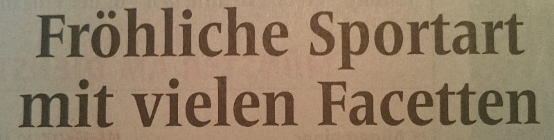 Fröhliche-Sportart