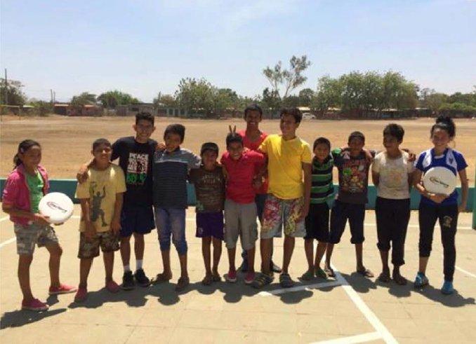 Foto von einem Discsport-Entwicklungsprojekt in Nicaragua